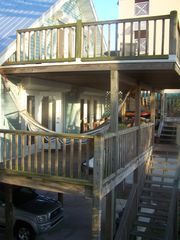 Outside of home, elevated 17 feet on pilings - Fort Myers Beach house vacation rental photo