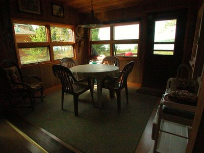 Frankfort cottage rental - Eating Area with Lake View