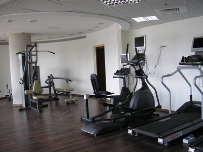 The fitness room.