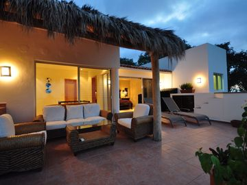 Our Palapa area. Sit and watch sun sets or sun rises. Very private.