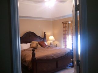 Carters chateau / country house photo - Master bedroom with down comforter and trey ceiling.