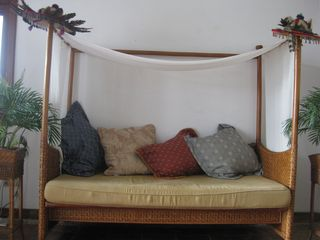Living room tropical style day bed. - Puerto Vallarta house vacation rental photo