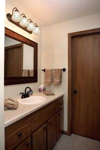Master Bath which has a full shower and tub.