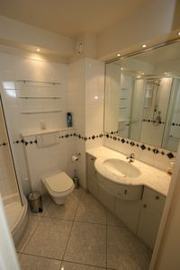 Mont Boron apartment rental - Well presented bathroom.