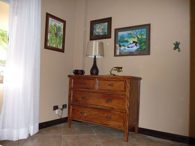 Jaco condo rental - Guest dresser; more drawers in bunk staircase!
