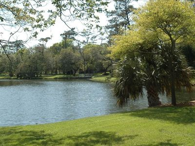 Kingston's lakes give the resort the feel of a relaxing park