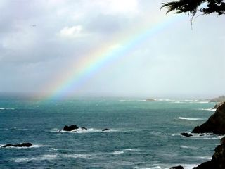 Mendocino house photo - Rainbow at Whitewater Cove