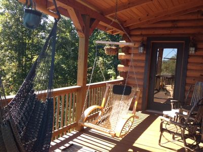 Black Mountain lodge rental - Enjoy peace and quiet and long range views right outside your master bedroom.