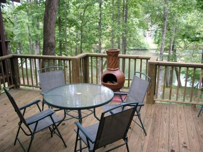 Cozy Up to the Chiminea Overlooking the Beautiful River