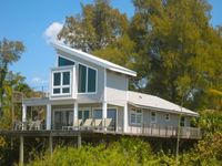GULF FRONT 4BR with sweeping water views, screened porch, sun deck, dockage and more!  Sunset Beach House, #0178, Little Gasparilla Island