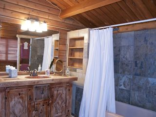 Breckenridge house photo - Full Bathroom with tub shower on main level and next to the Master Bedroom