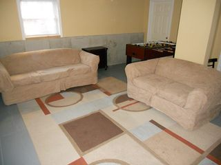 Wilmington house photo - sofa, loveseat, tv, cable, old skool gaming, fusbol, basketball, dartboard
