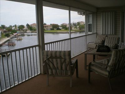 2nd story balcony overlooking canal