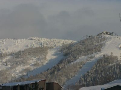 Views of Storm Peak and the Gondola at Steamboat Mountain
