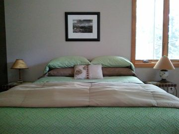 Master bedroom... yes we supply those linens.