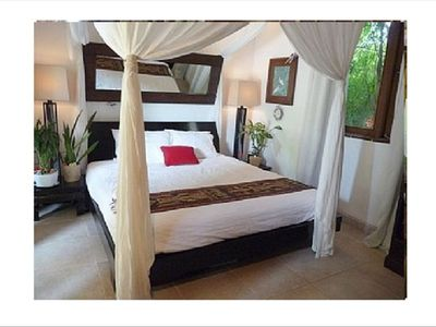 Sleep well on our new clean king sized mattress & mosquito net in bedrooms
