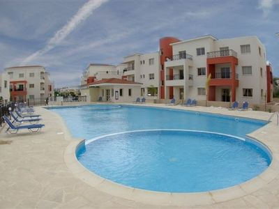 Kato Paphos house rental - Very large pool area with snack bar