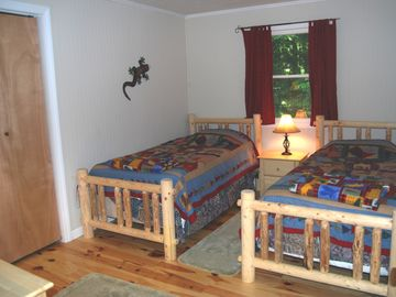 One of the 2 bedrooms in cottage
