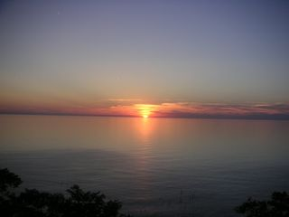 South Haven cottage photo - Beautiful Lake Michigan sunset