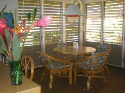 Tropical dining area