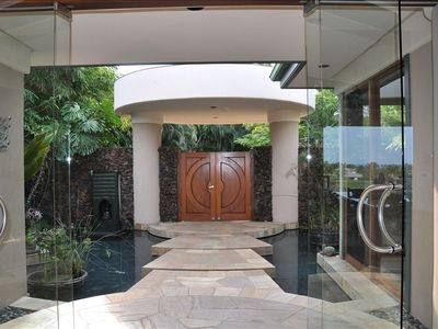 You could dream away in Halenani's foyer with flowing ponds and waterfalls...