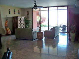 Playa Hermosa house photo - Lower Family room with walkout to pool and kitchenette