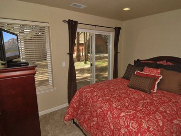 One of 2 third floor queen bedrooms.
