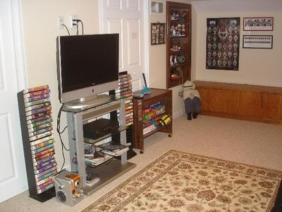 Basement has Flat Screen TV, Keyboard, Games, Movies and more...