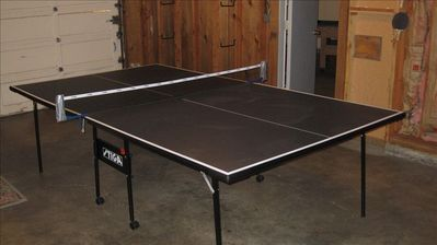 Ping-Pong and Pool Tables in the Garage