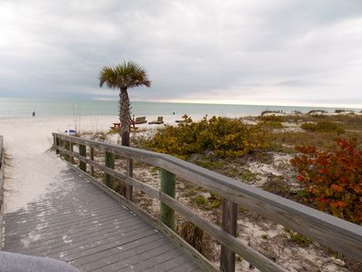 Indian Shores condo rental - Steps to the beach, just across the street and walkway... you're almost there...