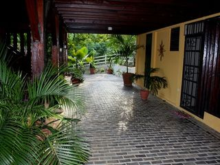 Culebra villa photo - Villa's Main Entrance Terrace at Ground Level..
