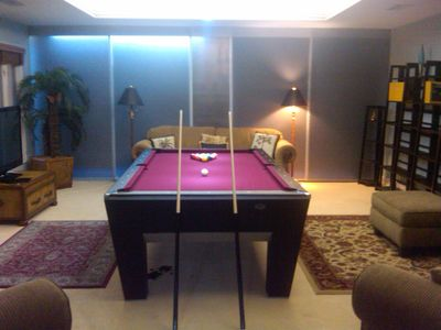 Pool Table Room (converts to ping pong) and 50 in Plasma