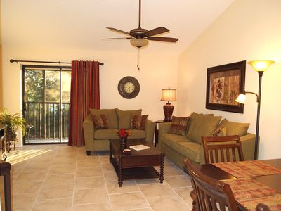 Cathedral ceilings and open floorplan makes for great entertaining.