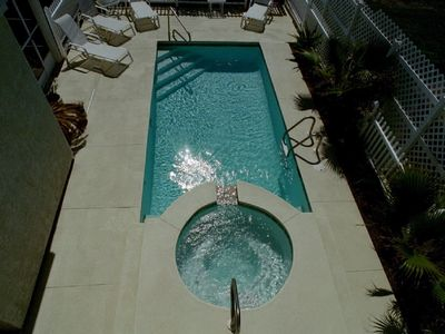 Private Pool with Spill Over Heated Jacuzzi