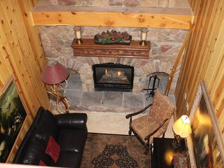 Deer Valley condo photo - Looking from second floor toward stone fireplace in main lobby.