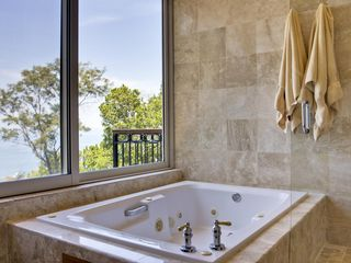 Puerto Vallarta villa photo - The master bathroom all done out in marble with a view!