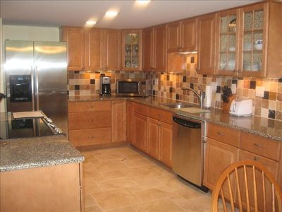 Fully-equipped, renovated kitchen with center island