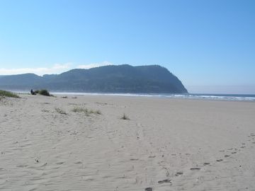 Take a walk along Seaside, Oregon's wide sandy beach.