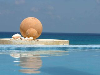 Isla Mujeres house photo - Tranquil Ocean View from Pool