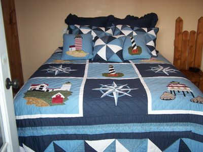Bear Lake cabin rental - Lighthouse rm w/Queen bed, private balcony magnificent view of the mountains