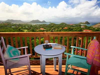 VERANDA OFF MASTER BEDROOM WITH VIEWS OF RODNEY BAY