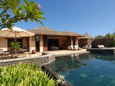 Mauritius West Coast and Center villa rental - Pool and house from main lawn