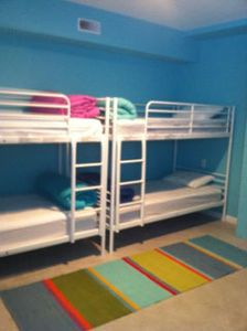 Bunk Room, ground level, is ideal for young crew members. A 1/2 bath is nearby.