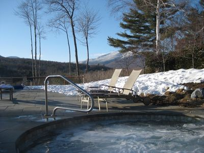 Outdoor hot tub open year-round