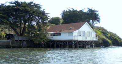 View of High Tide Cottage from Tomales Bay