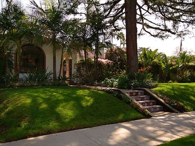 This beautiful Spanish revival is walking distance to shops and dining.