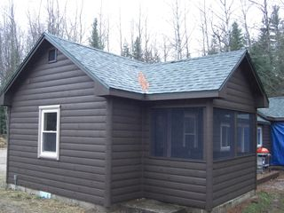 Grayling cabin photo - Screened in porch.