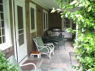 Falmouth house photo - Relax in the shaded patio!