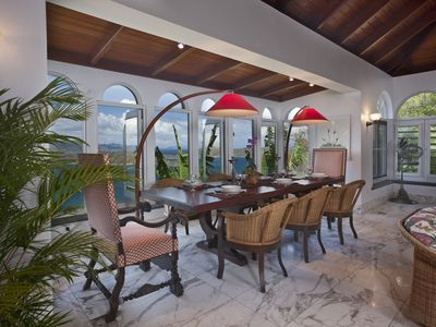 Stunning dining area overlooking St. John's national monument Hurricane Ho
