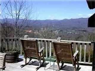 Bryson City cottage photo - View of Clingsman Dome From Deck -Winter